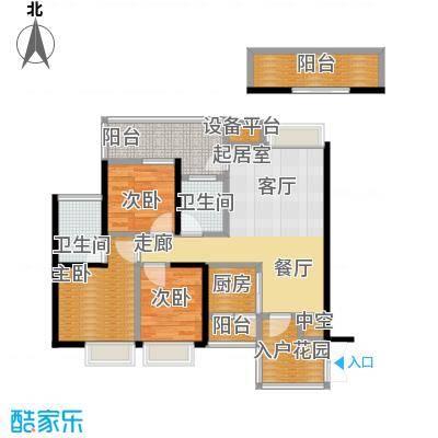 世纪新城1C栋1D栋01、02号房C户型3室2卫1厨