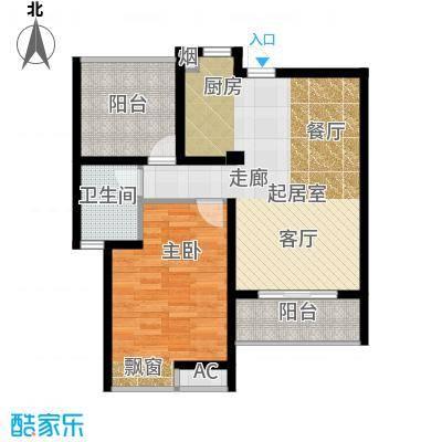 河海新邦78.00㎡(1+1)房两厅一卫78平米户型2室2厅1卫