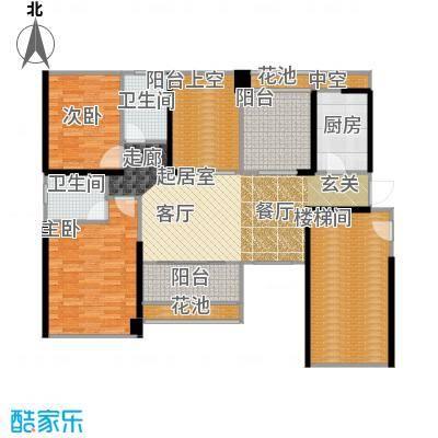 葡萄庄园左岸3栋、4栋户型2室2卫1厨