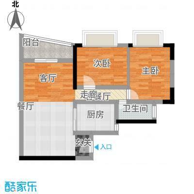 置业广场60.19㎡户型2室1厅1卫1厨