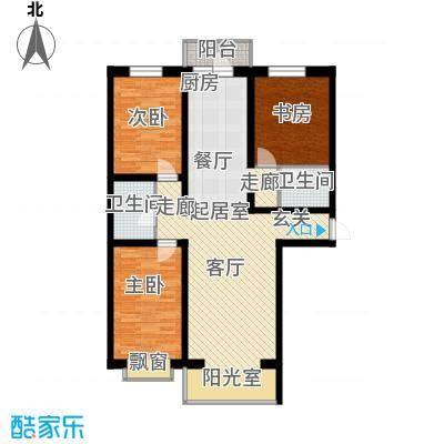 阳光美地115.98㎡阳光美地户型图(1/5张)户型3室2厅2卫