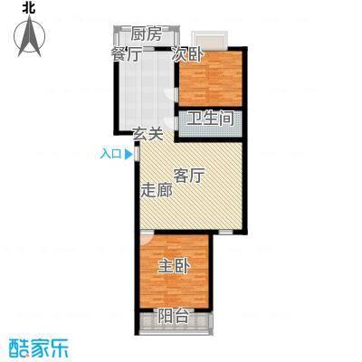 中铁绿洲三户型2室1厅1卫1厨