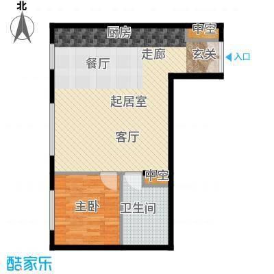 北京ONE78.11㎡图为1-C户型1室1卫