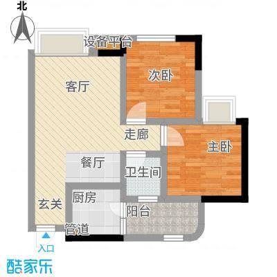 东津名座63.83㎡东津名座户型图绅士2房02、12户型2室2厅1卫1厨(1/1张)户型2室2厅1卫