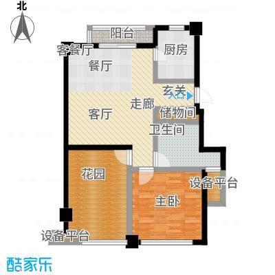 桂花园76.00㎡桂花园户型图二房二厅一卫-84平方米(3/3张)户型10室