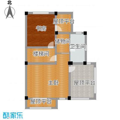 红堡412.00㎡双拼别墅B(总)三层户型2室1卫