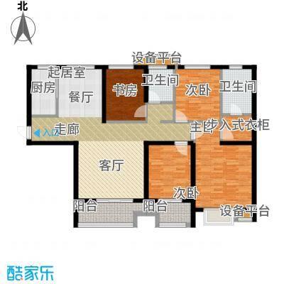 金旅城144.26㎡四室两厅两位D2户型144.26平米户型4室2厅2卫