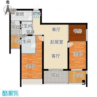 莱蒙时代134.00㎡莱蒙时代户型图凌云3室2厅2卫134平米(1/3张)户型3室2厅2卫