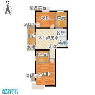 新城府翰苑81.03㎡二房二厅一卫-81.03平方米-17套户型