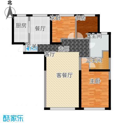 钻石9座126.07㎡三室两厅两卫126.07平米户型图X