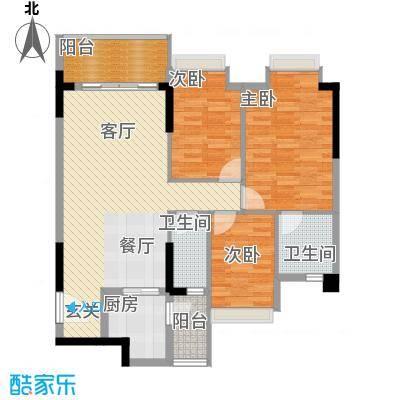 精英世家89.04㎡户型3室1厅2卫1厨