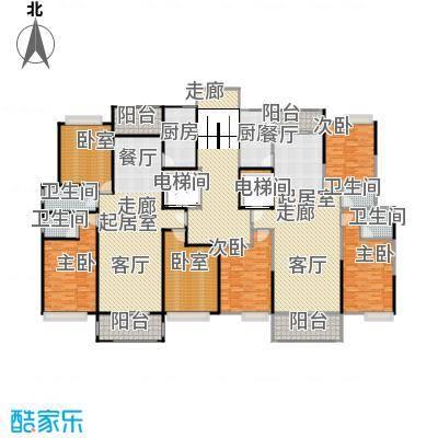 荔城花园户型4室4卫2厨
