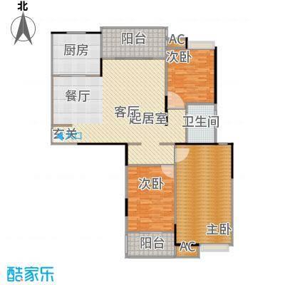 天隽峰19#楼R户型3室1卫1厨