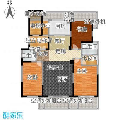 华亭苑户型3室2卫1厨