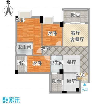 尚境雅筑110.37㎡A4栋01单元户型3室1厅2卫1厨