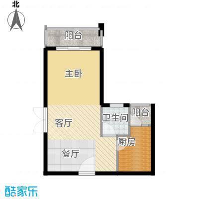汇景上层41.35㎡户型1厅1卫1厨
