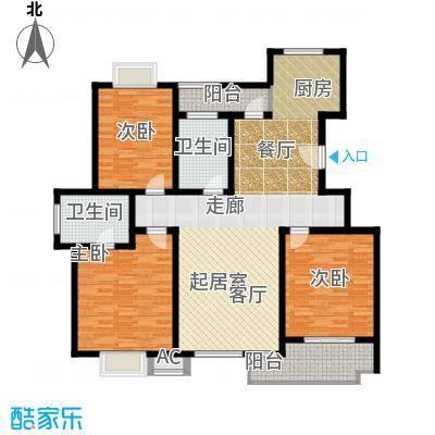 康顺园山庄144.00㎡G2户型3室2厅2卫