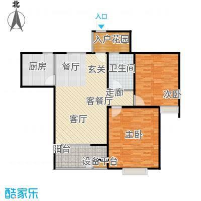 阳光福地95.40㎡二房二厅一卫:95.4平米户型