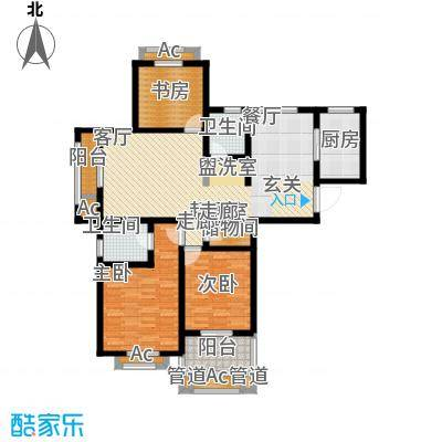 景城名轩120.00㎡景城名轩户型图1号楼D3户型3室2厅2卫(3/5张)户型3室2厅2卫