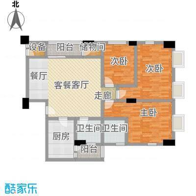 荔景华庭B栋14~15层05户型3室1厅2卫1厨