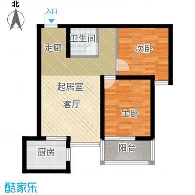 金旅城72.90㎡两室一厅一卫A1户型72.9平米户型2室1厅1卫