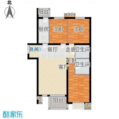 汇雅风尚汇雅风尚户型图三室两厅两卫(7/8张)户型10室
