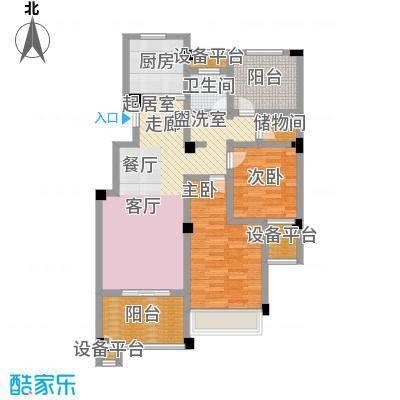 金色领寓89.62㎡金色领寓户型图(2/6张)户型2室2厅1卫