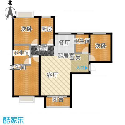 北京城建・世华泊郡119.70㎡5号楼E6、E9户型2室3卫1厨