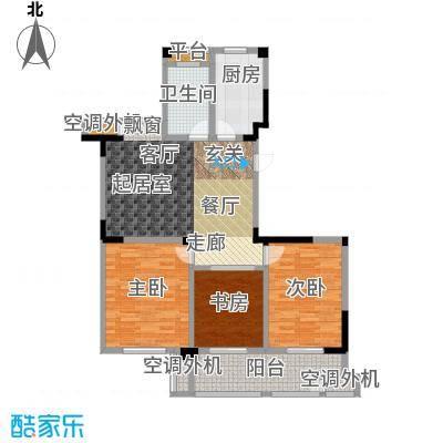 合峰汇109.00㎡合峰汇户型图A23室2厅1卫(2/3张)户型3室2厅1卫