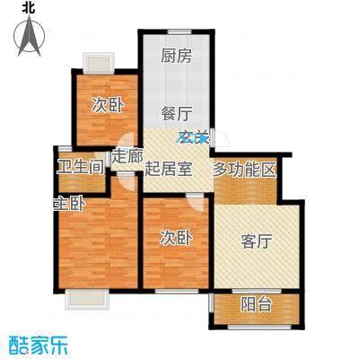 名城嘉苑96.00㎡名城嘉苑户型图122平米(1/3张)户型10室