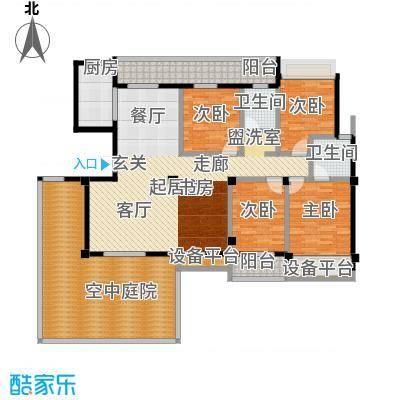 城市空间164.78㎡城市空间户型图G8(1/3张)户型4室2厅2卫