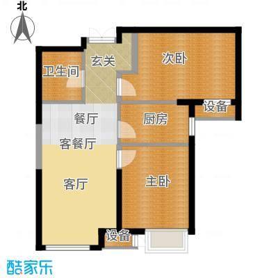 泰达城河与海87.00㎡泰达城河与海87.00㎡2室1厅1卫户型2室1厅1卫