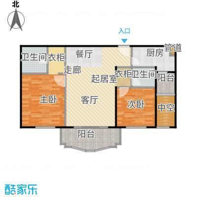 玉龙苑90.00㎡房型: 二房; 面积段: 90 -100 平方米; 户型