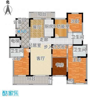 凤凰湖壹号222.00㎡大平层(2)维多利亚 四房两厅三卫户型4室2厅3卫