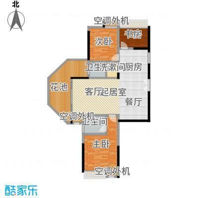 洪客隆英伦联邦103.77㎡5#-9#楼三房A户型3室2厅2卫1厨户型3室2厅2卫