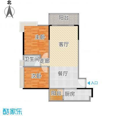 保利中辰广场B1栋06单元户型2室1卫1厨