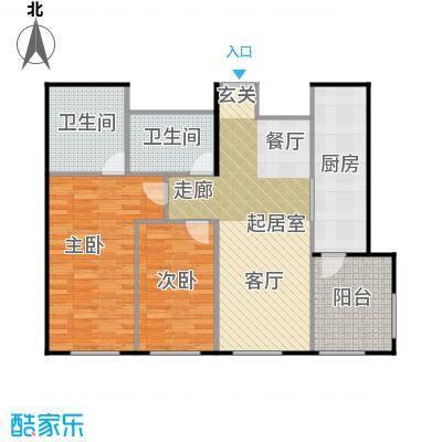 天润・香墅湾1号100.00㎡A户型2室2厅2卫