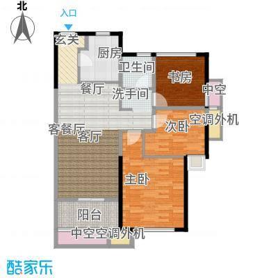 新城帝景90.00㎡90平米3房2厅1卫户型3室2厅1卫
