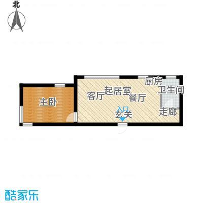 钻石9座48.96㎡钻石9座户型图一室一厅一卫48.96QQ
