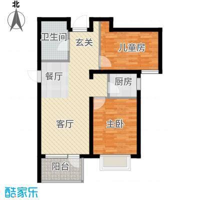 金隅・观澜时代88.00㎡G7户型2室2厅1卫