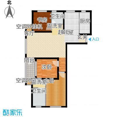 龙德花园126.64㎡1#、3#、4#、5#C1户型三房两厅两卫户型3室2厅2卫