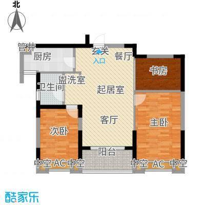 银亿海尚广场88.00㎡银亿海尚广场户型图E2(10/10张)户型10室