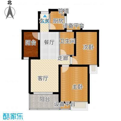 香江壹品香江壹品户型图水立方甲02三室两厅一卫,约89平米(17/38张)户型10室
