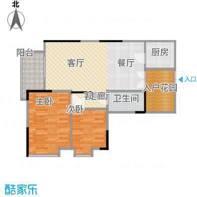 宏新华庭79.59㎡A栋-303户型2室1厅1卫1厨