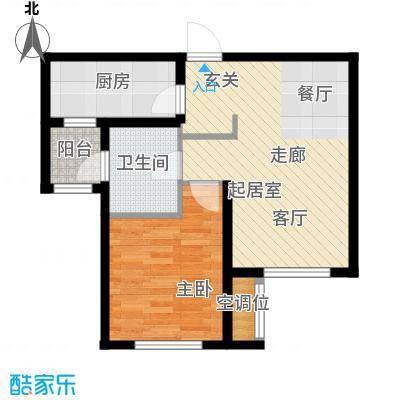 佳宁苑65.00㎡C户型1室2厅1卫