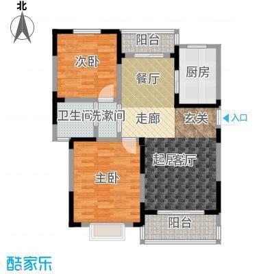 新城玉龙湾新城玉龙湾户型图B1户型面积约90平米(5/35张)户型10室