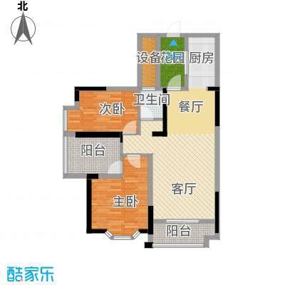 鑫天御景湾89.65㎡B4户型2室2厅1卫