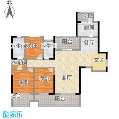 中海城南华府160.00㎡C型户型3室2厅2卫