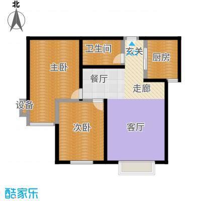 滨河绿洲99.00㎡滨河绿洲户型图三室两厅两卫(3/4张)户型10室