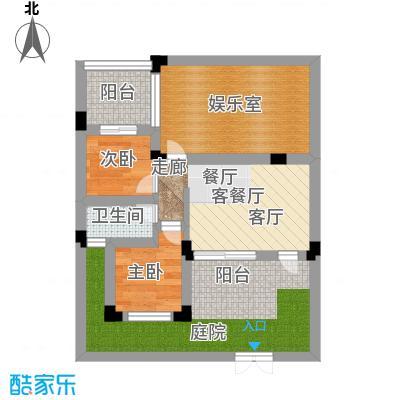 汇祥云深处汇祥云深处二组团户型-44.31平米户型2室2厅1卫